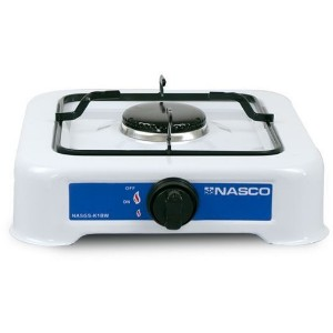 Nasco NASGS-K1BW Single Burner Gas Stove - White