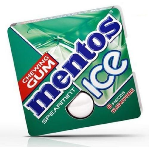 Mentos Spearmint Ice Chewing Gum - 8 Pieces