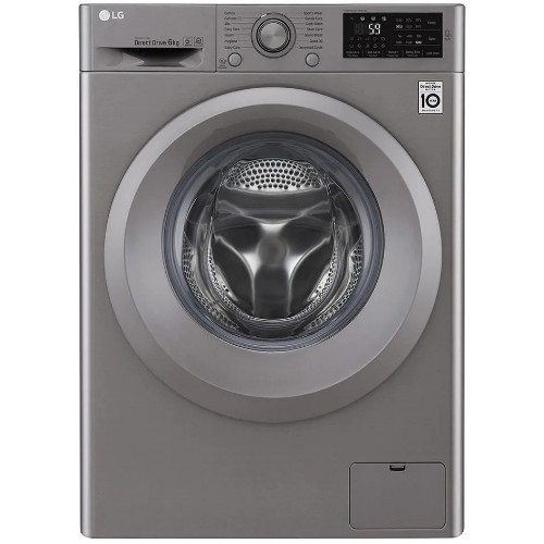 LG F2J5NNP7S 6kg 6-Motion Direct Drive Front Load Washing Machine with Add Item and ThinQ