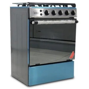Midea 24LMG4G027 4 Burners Gas Stove with Oven, Grill and Auto Ignition