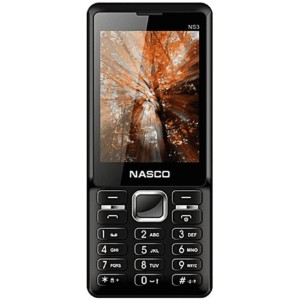 Nasco NS3-BLACK Dual Sim Bluetooth Mobile Phone (Black)