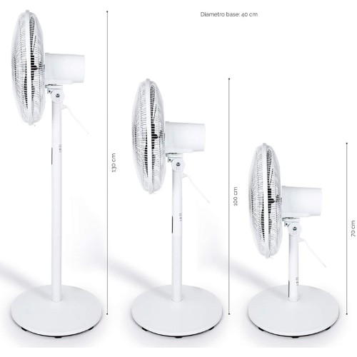 Midea FS40-18BR Standing Fan with Remote