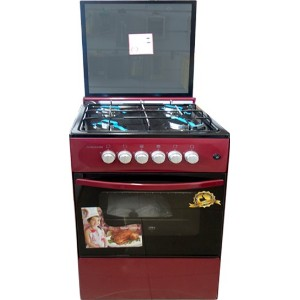 Volcano 5C.BR-GL 4 Burners 50x50 Gas Stove with Grill and Oven
