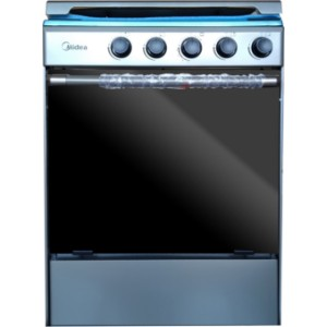Midea M-SNIPER60-SILVER 4 Burner 60x60cm Stainless Steel Gas Stove with Oven and Grill