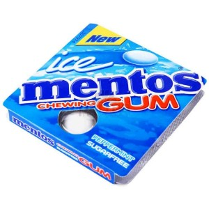 Mentos Peppermint Ice Chewing Gum - 8 Gums
