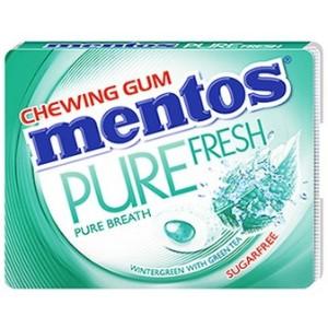 Mentos Pure Fresh Wintergreen Chewing Gum - 8 Pieces
