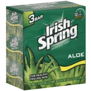 Irish Spring Deodorant Soap (Aloe) - 3 bars
