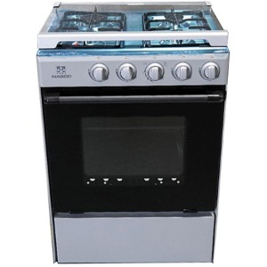 Nasco NASGC-SNIPER50S-G 4 Burner 50x50 Stove with Oven and Grill - Silver