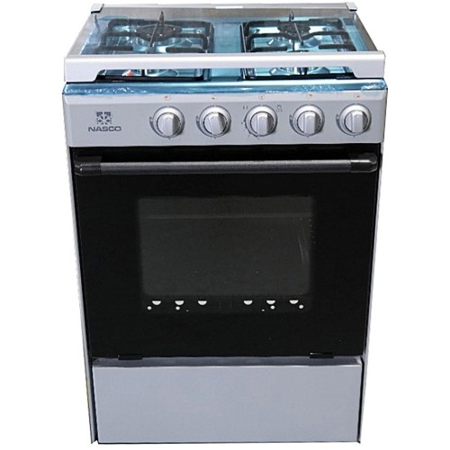 Nasco NASGC-SNIPER50S-G 4 Burners 50x50 Stove with Oven and Grill - Silver