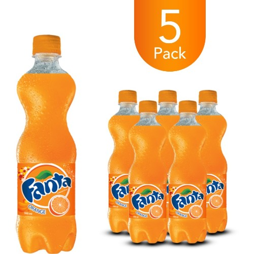Fanta Orange 500ml Bottle Drink (5 Pack)