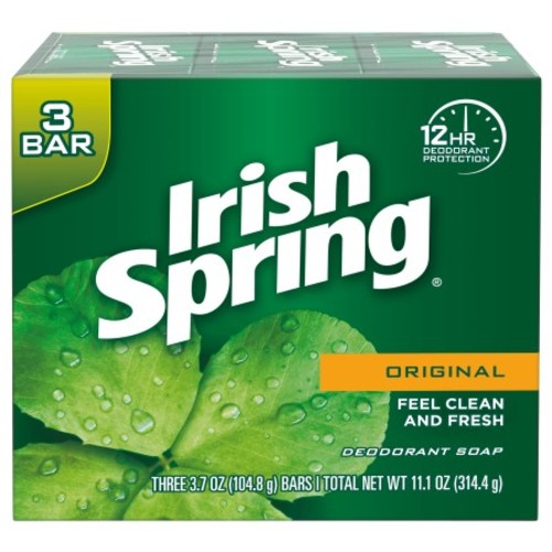 Irish Spring Deodorant Soap (Original) - 3 bar