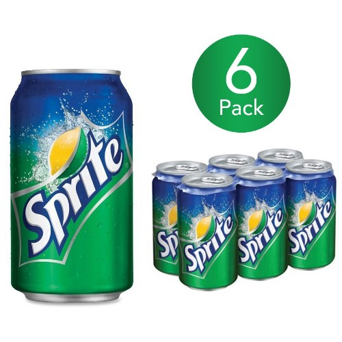 Sprite 330ml Can Drink (6 Pack)