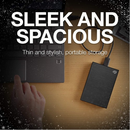 Seagate STHN2000400 Backup Plus Slim 2TB External Hard Drive Portable HDD - Black USB 3.0