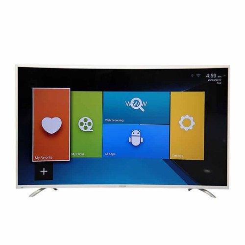 Nasco LED55Q9 55 inches 4K UHD Curved Android Smart Satellite TV