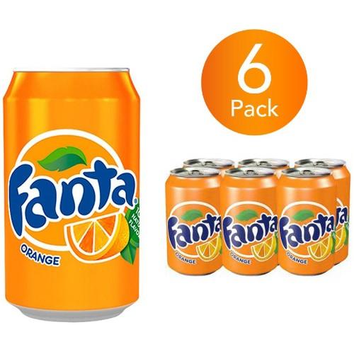 Fanta Orange 330ml Can Drink (6 Pack)