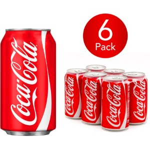 Coca-Cola Classic 330ml Can Drink (6 Pack)