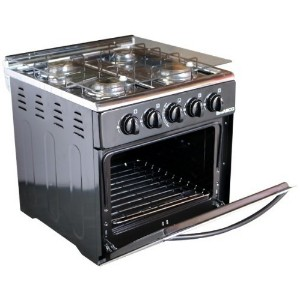 Nasco GCNAS-50MO 50 x 50cm Mini Oven 4 Burners Gas Stove